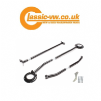 Mk2 Golf Front & Rear Strut Brace Kit. Black, Corrado